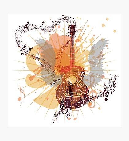Musik Poster mit Gitarre 5 Fotodruck