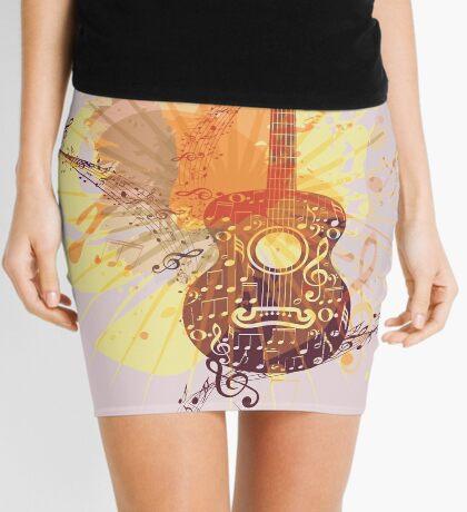 Musik Poster mit Gitarre 5 Minirock