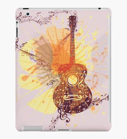 Musik Poster mit Gitarre 5 iPad-Hülle & Klebefolie