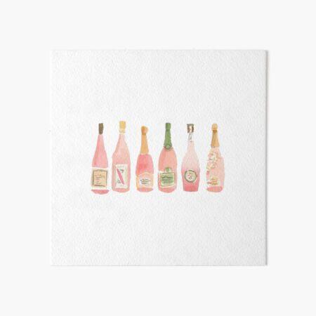 Pink Champagne Art Board Print