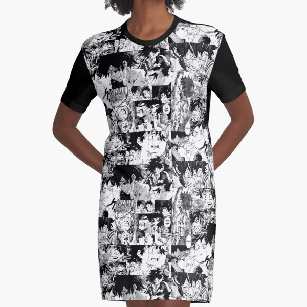 the ahegao shirt but it's izuku crying Graphic T-Shirt Dress