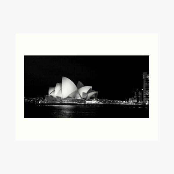 Sydney Opera House in Black and White Art Print