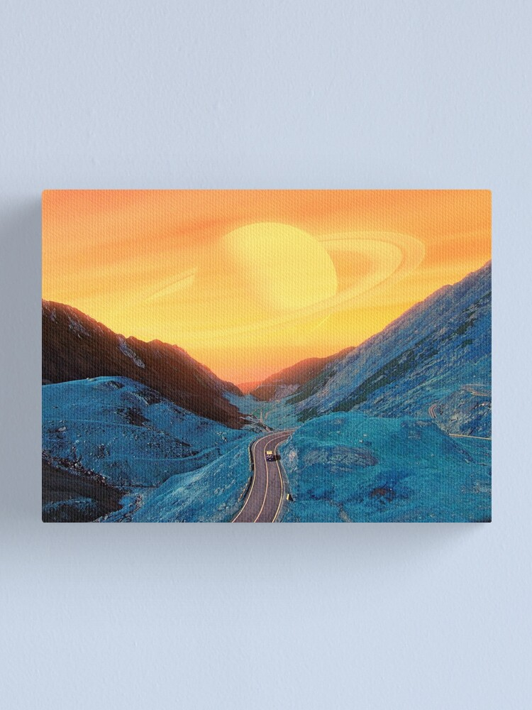Alternate view of Blue Mountain with Yellow Sky Canvas Print