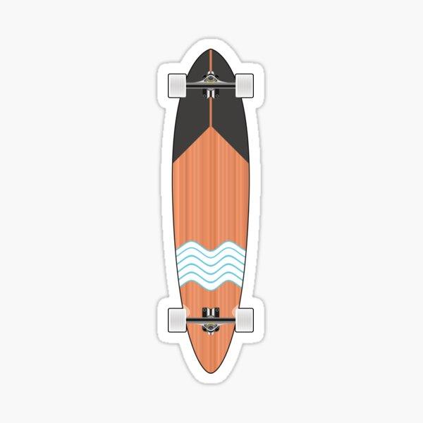 Longboard Minimal Skateboard Sticker