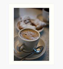 Coffee & Beignets - Cafe Du Monde - New Orleans, Louisiana Art Print