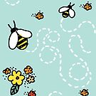 Bees and Buds by AlliArnold