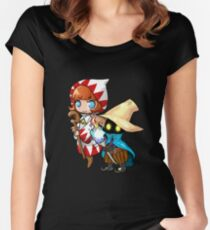 Black & White Mage Women's Fitted Scoop T-Shirt