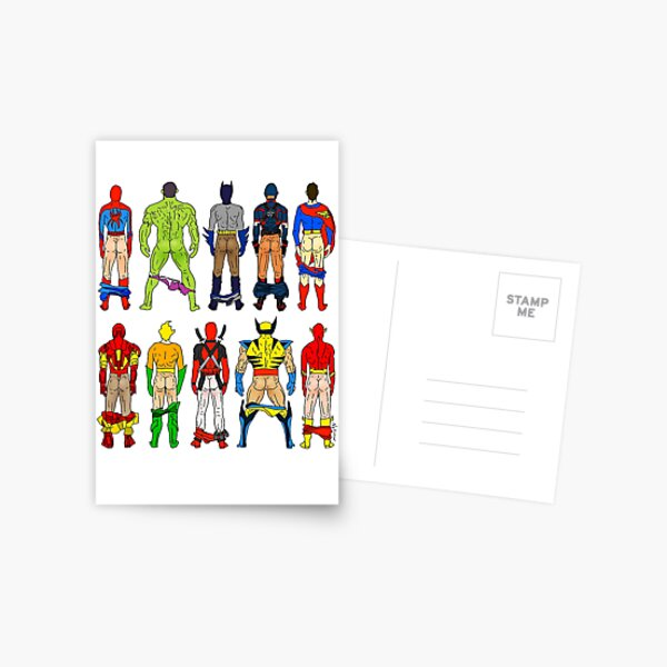 Superhero Butts Postcard