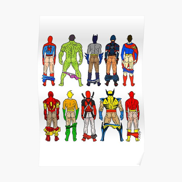 Superhero Butts Poster