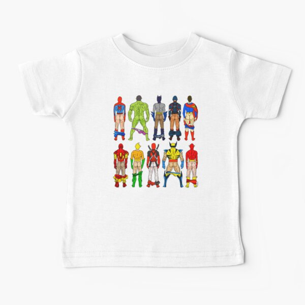 Superhero Butts Baby T-Shirt