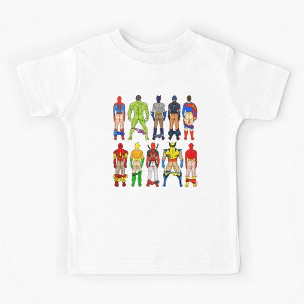 Superhero Butts Kids T-Shirt