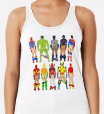 Superhero Butts Racerback Tank Top