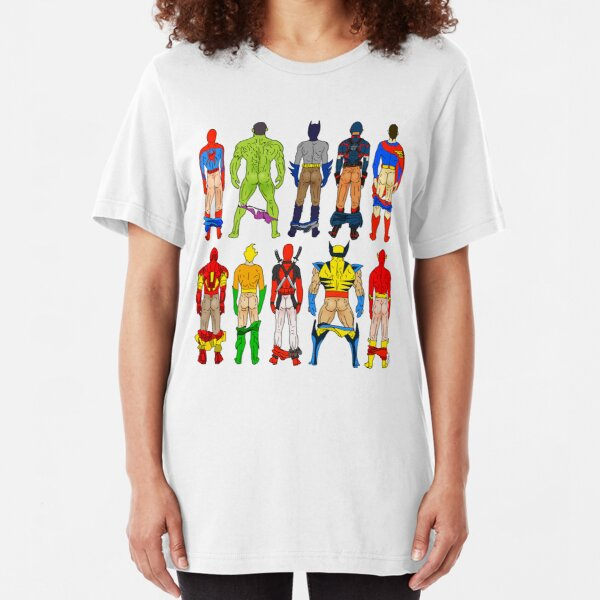 Superhero Butts Slim Fit T-Shirt