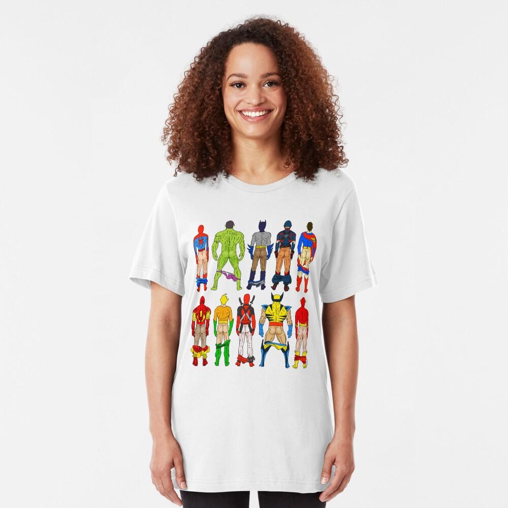 Superhero Butts Slim Fit T-Shirt