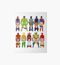 Superhero Butts Art Board Print