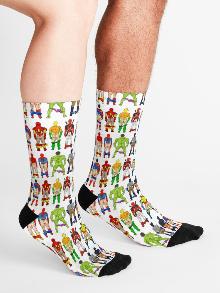 Alternate view of Superhero Butts Socks