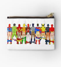 Superhero Butts Zipper Pouch