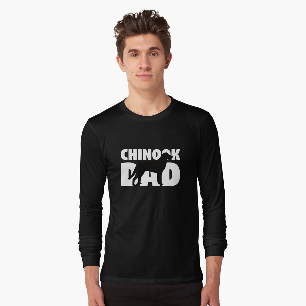 Chinook Dad T-Shirt Chinook Gift Father Dog Dad Tee Camiseta de manga larga
