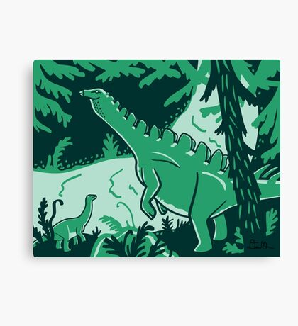 Long Necks print Canvas Print