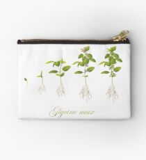 Soybean (Glycine max) plant development Zipper Pouch