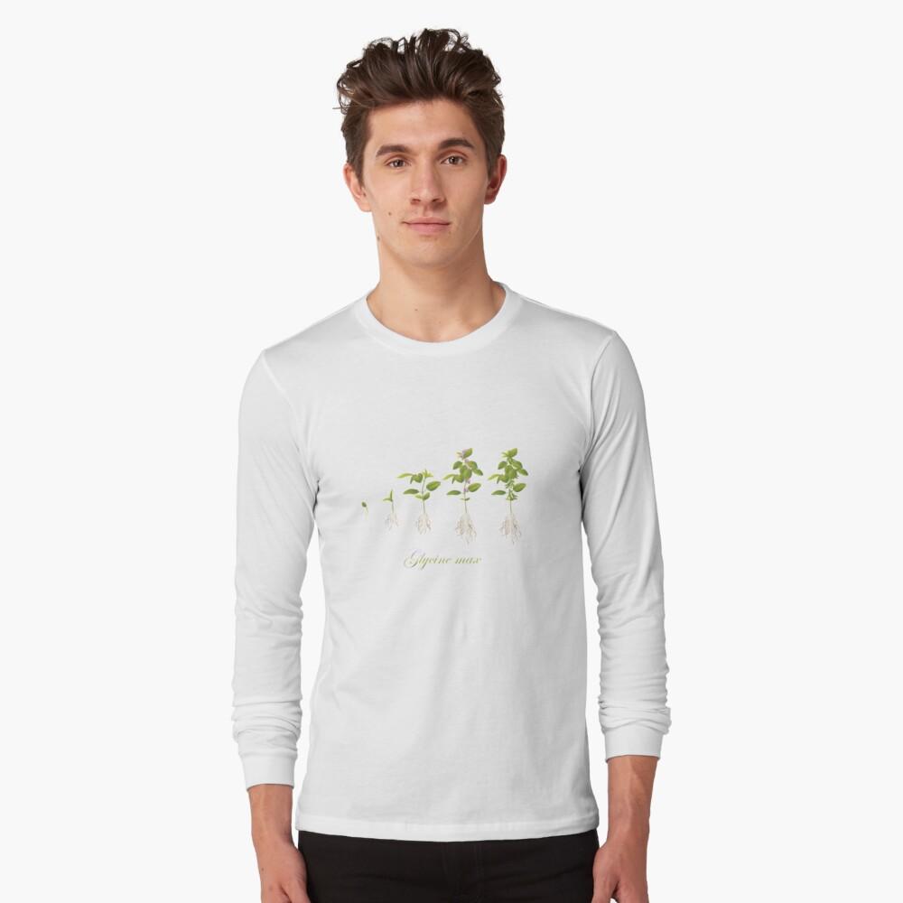 Soybean (Glycine max) plant development Long Sleeve T-Shirt