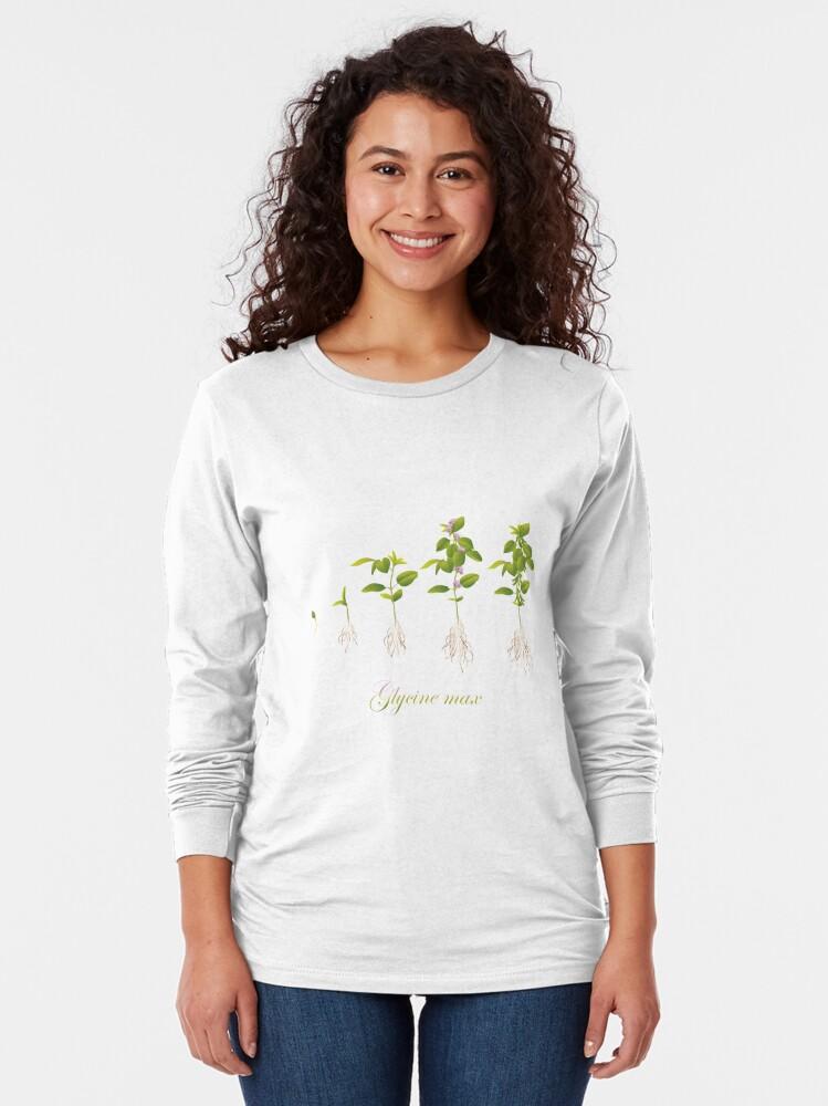 Alternate view of Soybean (Glycine max) plant development Long Sleeve T-Shirt