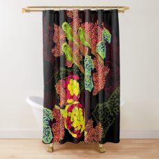 Zebrafish Fluorescent Staining Shower Curtain