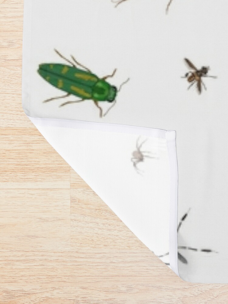 Alternate view of Entomologist's Dream Shower Curtain