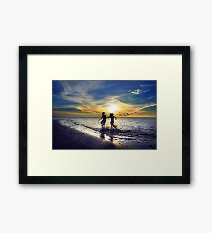 Feel Free #5 - Who's fastest Framed Print
