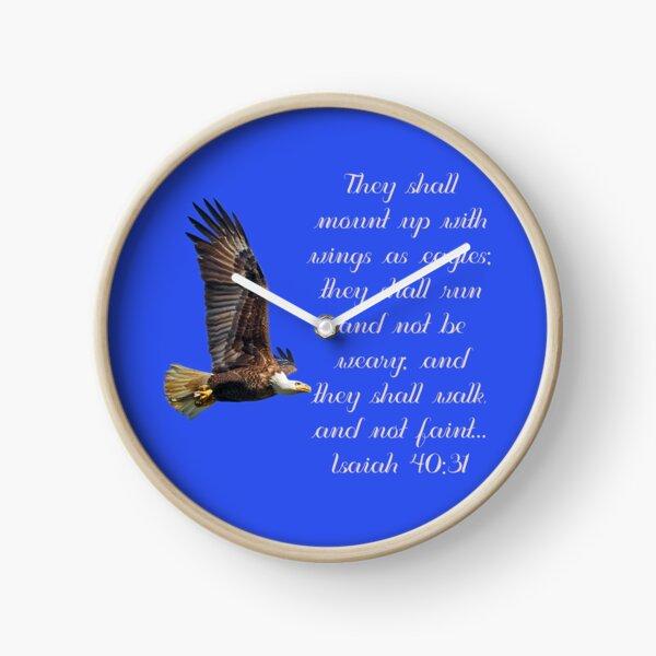 Wings As Eagles Clock