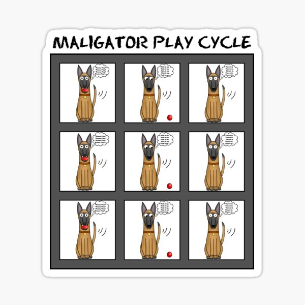 Maligator Play Cycle Sticker