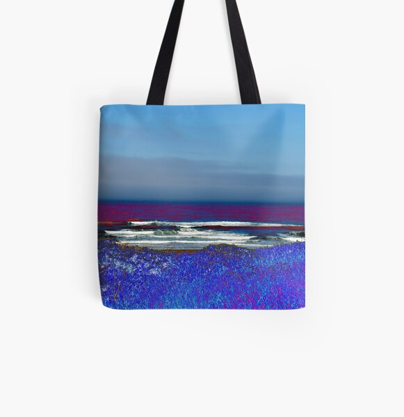 Looking out at the coast All Over Print Tote Bag