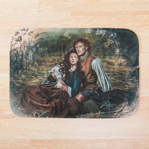 Amoureux dans l'herbe Tapis de bain