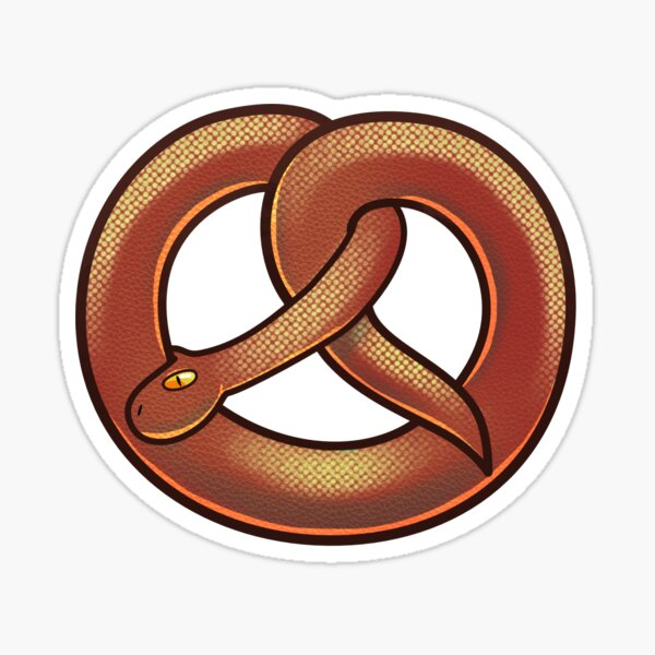 Pretzel Snake Sticker