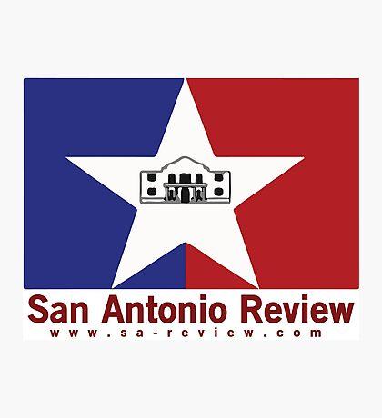 San Antonio Review with San Antonio flag and URL Photographic Print