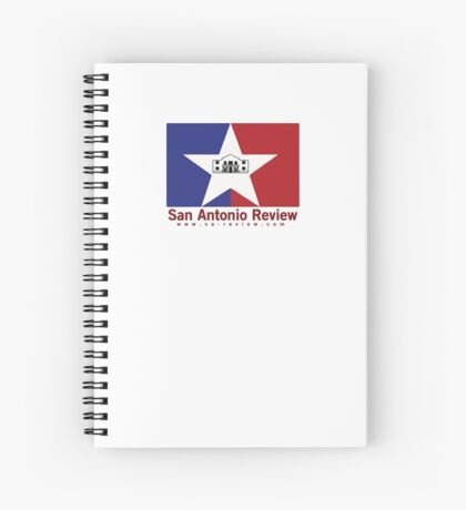 San Antonio Review with San Antonio flag and URL Spiral Notebook