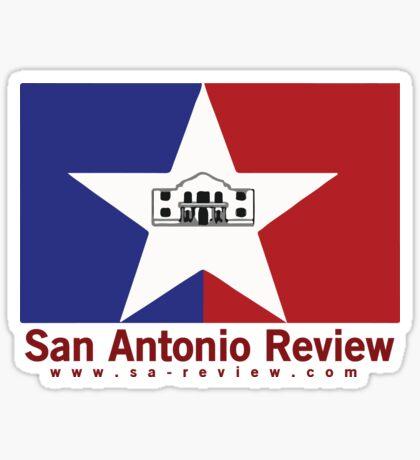San Antonio Review with San Antonio flag and URL Sticker