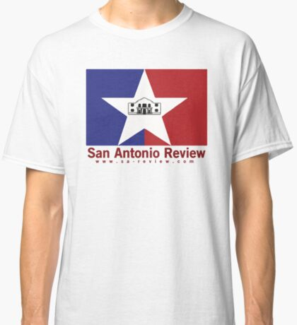 San Antonio Review with San Antonio flag and URL Classic T-Shirt
