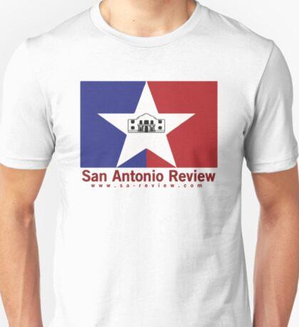 San Antonio Review with San Antonio flag and URL T-Shirt