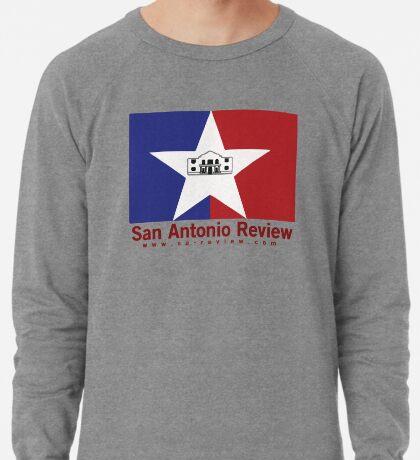 San Antonio Review with San Antonio flag and URL Lightweight Sweatshirt