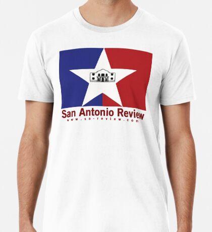 San Antonio Review with San Antonio flag and URL Premium T-Shirt