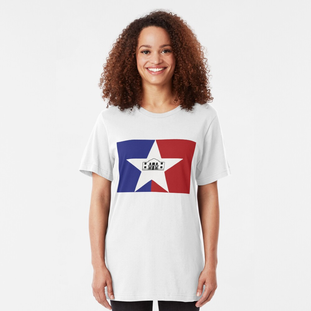 San Antonio Flag Slim Fit T-Shirt