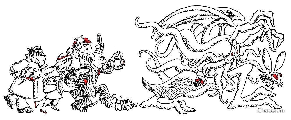 Gahan Wilson Art 1: US - Investigators Pursue the Mythos  by Chaosium
