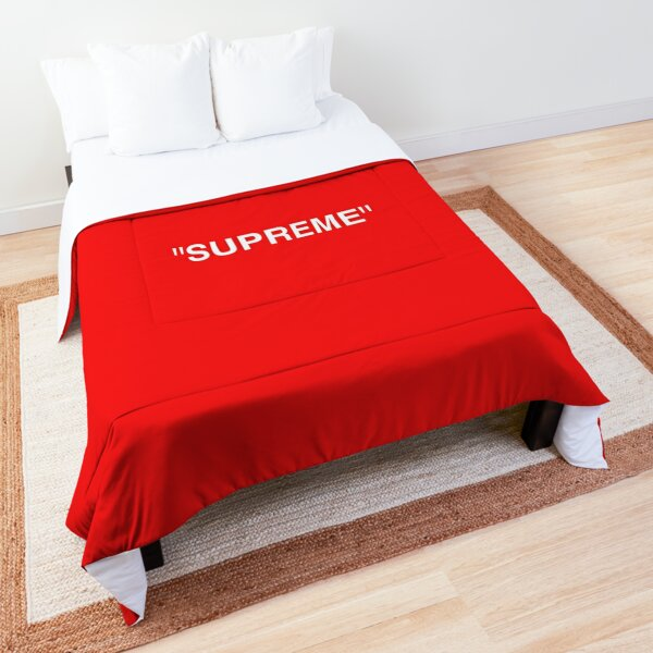 Supreme X Off-White LOGO WHITE / RED / BLACK Comforter