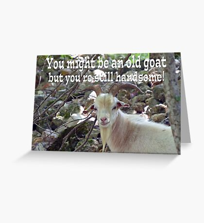 Old Goat Card Greeting Card