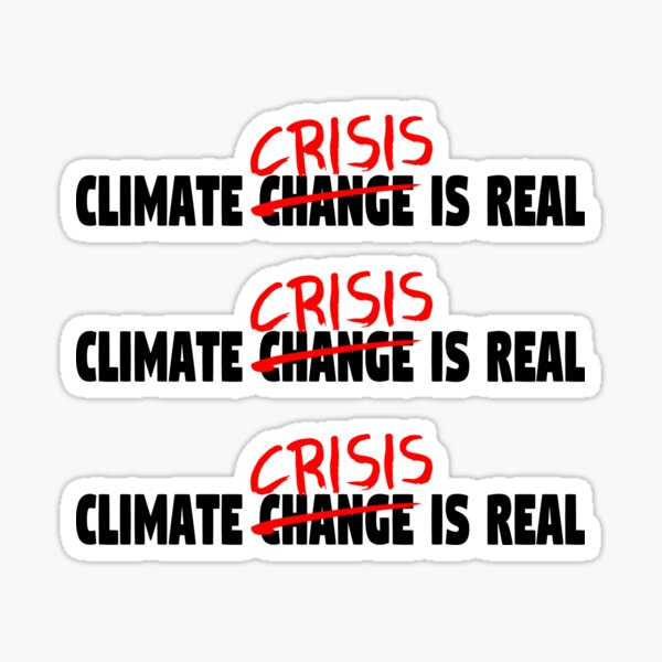 Climate Crisis Is Real Sticker