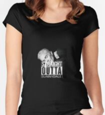 Spike- Straight Outta Sunnydale Women's Fitted Scoop T-Shirt