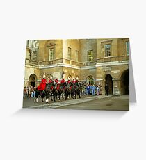 Whitehall Entrance to Horse Guards Greeting Card
