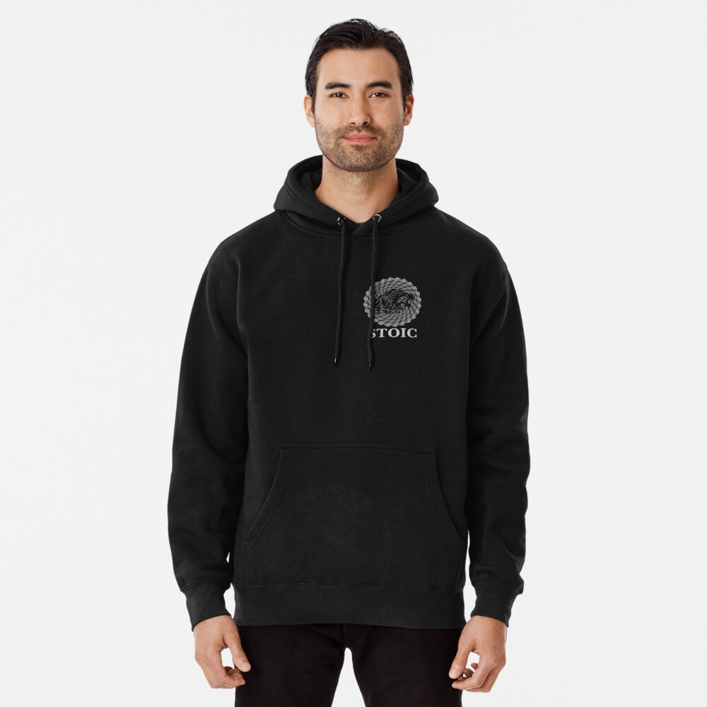 Stoic Lion - Stoic Symbol of Strength - Fight Chaos Pullover Hoodie