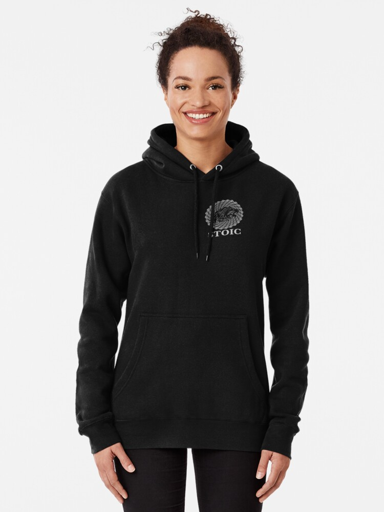 Alternate view of Stoic Lion - Stoic Symbol of Strength - Fight Chaos Pullover Hoodie